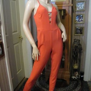 Urban Rose Salmon Orange Jumpsuit M